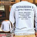 BUDDY RICHARDSON'S AUTO SERVICE GILDAN ロングスリーブ Tシャツ バディ グレー オートサービス USA 長袖 ヴィンテージ加工 アメカジ…