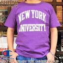BUDDY Champion U.S.A. T1011 NEW YORK UNIVERSITY Tシャツ チャンピオン バディ ニューヨーク 大学 カレッジ ロゴ アメカジ 半袖 バイ…