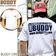 BUDDYオリジナルポケット付きTシャツバディポケTアメカジホワイトバックプリント半袖白原宿両面プリントメンズストリートファッショントップスロゴXL2XL3XL