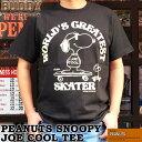 BUDDY×PEANUTS SNOOPY JOE COOL Tシャツ バディ スヌーピー WORLD'S GREATEST SKATER 半袖 ピーナツ スケーター 黒 ブラック アメカジ…