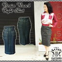 SAVOY CLOTHING Denim Ranch Tight Skirt デニム スリット タイト スカート サヴォイクロージング ペンシル ロカビリー ファッション …