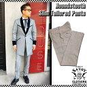 SAVOY CLOTHING Houndstooth Slim Tailored Pants 千鳥格子 スリム テーラード パンツ テディボーイ ストレート チェック セットアップ…