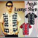 SAVOY CLOTHING Argyle Lounge Shirt アーガイル ラウンジ シャツ オープンシャツ サヴォイクロージング オープンカラー 50'S 半袖 開…