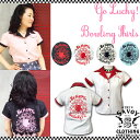 SAVOY CLOTHING GO Lucky! Ladies Bowling Shirts 刺繍 ボーリングシャツ サヴォイクロージング シャツ ブラウス バックプリント レデ…