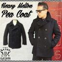 SAVOY CLOTHING Heavy Melton Pea Coat ヘビー メルトン Pコート ブラック ウール サヴォイクロージング コート アウター ジャケット …