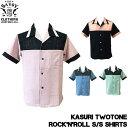SAVOY CLOTHING Kasuri TwoTone Rock'n'Roll S/S shirts カスリ 2トーン ロックンロール シャツ 半袖 サヴォイクロージング オープン …