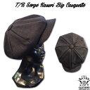 SAVOY CLOTHING T/R Serge Kasuri Big Casquette サヴォイクロージング ツイル サージ カスリ ビッグ キャスケット キャップ 帽子 ブラ…
