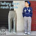 SAVOY CLOTHING Hickory Denim Ranch Pants ヒッコリー デニム ランチ パンツ ワイド バギー ハイウエスト レディース サヴォイクロー…