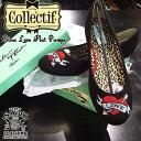 SAVOY CLOTHING COLLECTIF Gina Love Flat Pumps コレクティフ ハート 刺繍 フラット パンプス ラブ サヴォイクロージング ブラック 靴…