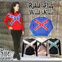 SAVOY CLOTHING Rebel Flag Ladies Wool Knit レベル フラッグ ウール ニット セーター レディース スター 星 クロス サヴォイクロージ…