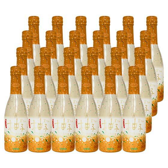 お歳暮 (送料無料 一部地域を除く 限定)梅乃宿 実りのスパークリング「柚子」 5° 250ml 24本セット