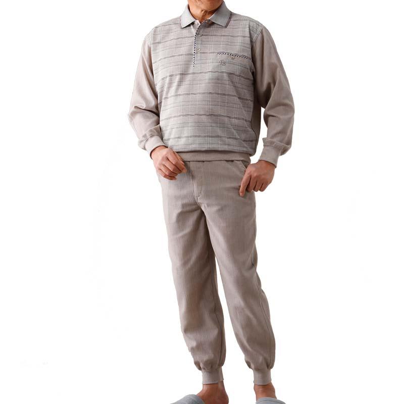ジャカード 楊柳 上下セット ホームウエア(敬老の日 シニア向け 服 衣料 介護用品 老人 高齢者 お年寄り 大きいサイズ シニア シニアファッション 60代 70代 80代 男性 紳士 メンズ 高齢者服 ギフト 刺しゅう) 通販 10P01Oct16
