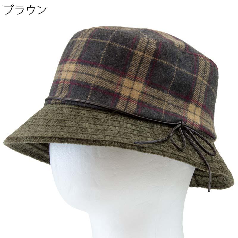 チェック柄 あったか ハット 帽子レディース シニア ファッション 母の日 60代 70代 80代 シニア向け 服 衣料 介護用品 老人 高齢者 シニアファッション 女性 婦人 通販