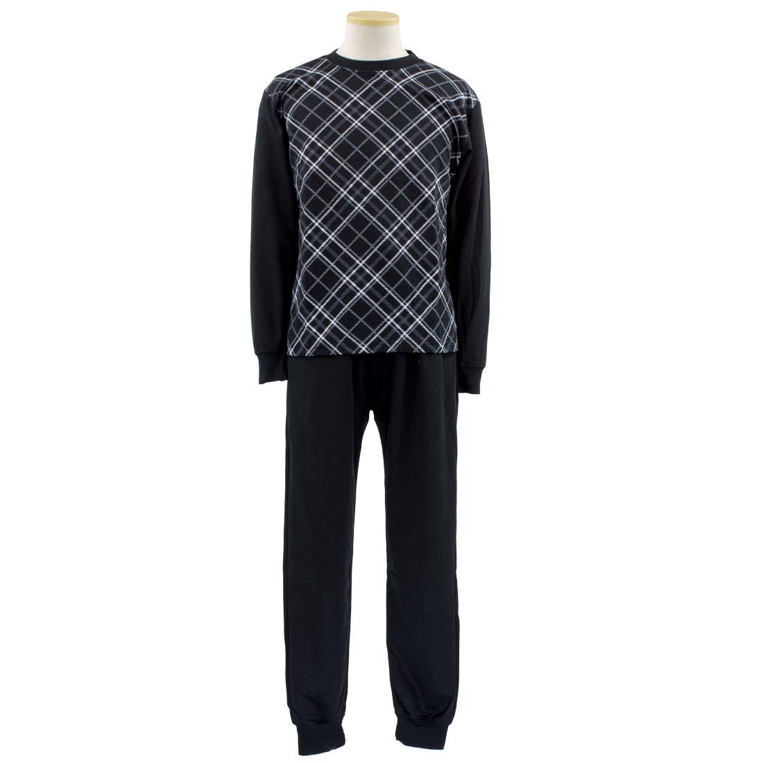 メンズ シニアファッション■スウェットスーツ トレーナー クルー パンツ 上下セット