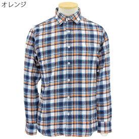 紳士 コットン フランネルシャツ ネルシャツ●シニアファッション 70代 80代 90代 秋冬 敬老の日