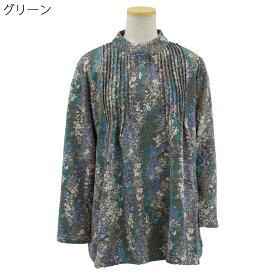婦人 起毛 ピンタック Tブラウス カットソー●婦人 シニアファッション 秋冬 70代 80代 90代 小さいサイズ