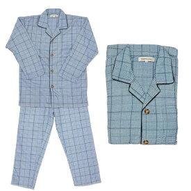 紳士 ふんわり ソフト キルト パジャマ 前開き シニアファッション 70代 80代 90代 秋冬 敬老の日