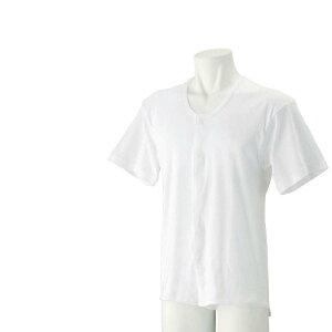 紳士 半袖 乾燥機対応 前開き ホック スナップボタン 介護肌着 シャツ 取寄せ