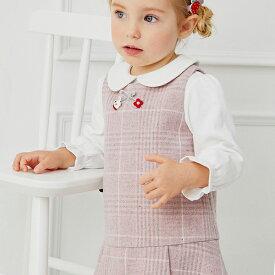 子供服 女の子 ジャンパースカート サロペットスカート ワンピース 80 90 100 110 120 130 cm dbj14541-2 dave&bella デイブ ベラ シンプル 上品