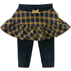 子供服 女の子 スカート付きレギンス スカッツ レギンスパンツ チェック 70 80 90 100 110 120 130 cm dbm14550 dave&bella デイブ ベラ シンプル 上品