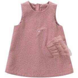 女の子 ジャンパースカート サロペットスカート ワンピース Aライン 70 80 90 100 110 120 130 cm dbw14736-2 dave&bella デイブアンドベラ