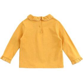 女の子長袖トップス春秋Tシャツボトミングシャツ708090100110120130cmtt19363【Marc&Janieシンプル上品フォーマルカジュアルベーシック】