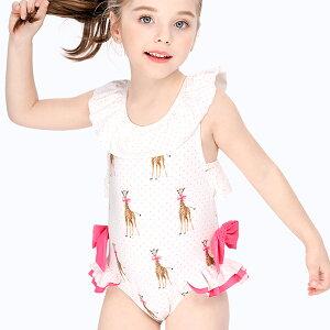 水着 女の子 キッズ ベビー ワンピース フリル バッククロス 夏 キリン かわいい おしゃれ ms719258 modomoma