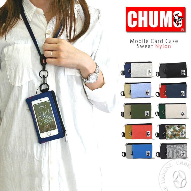 [3点までメール便可]チャムス ポーチ CHUMS スマートフォンケース スウェットナイロン (ch60-2052) チャムス 財布 チャムス CHUMS 雑貨 スマホケース 携帯ケース 携帯電話ケース 楽天