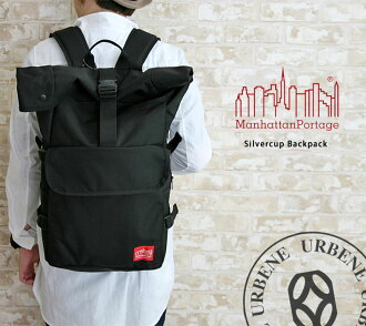 48b448853b71 マンハッタンポーテージ Manhattan Portage Silvercup Backpack silver cup backpack medium  size / (roll top rucksack
