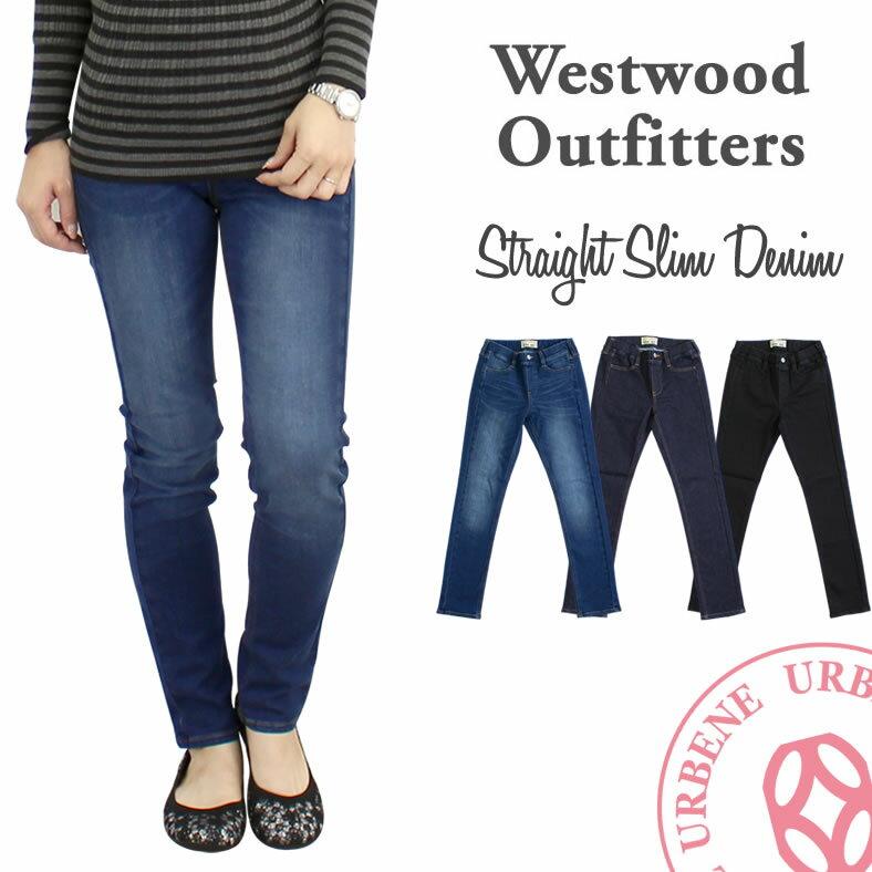 Westwood Outfitters ウエストウッドアウトフィッターズ ストレートスリムデニム(8117025) 2018春夏 スキニーパンツ/フリーフィットストレッチ SS-L 全3色