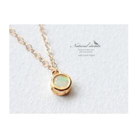 Candy charm 天然石14KGFネックレスエチオピアオパール/10月誕生石/宝石質