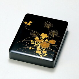 秋草 硯箱(黒)宮内庁御用達 日本製 来客 うるし 艶 上品 器 漆器 手塗 高級 おすすめ 木 木製 箱 ボックス 就職祝い 昇進祝い 合格祝い ギフト 硯箱 磨き蒔絵