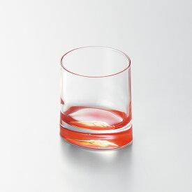 赤富士オールドグラス(赤)宮内庁御用達 酒器 日本製 来客 うるし 漆塗 手塗 高級 おすすめ おもてなし グラス ガラス コップ 富士山 プレゼント ギフト 還暦 父の日 長寿祝い 御祝 海外ギフト