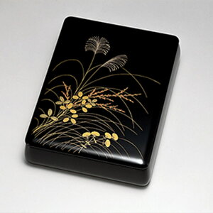 送料無料 秋草 文筥 文庫 手箱 日本製 来客 艶 上品 器 漆器 高級 おすすめ 木 木製 箱 ボックス 就職祝い 昇進祝い 合格祝い ギフト プレゼント 越前塗