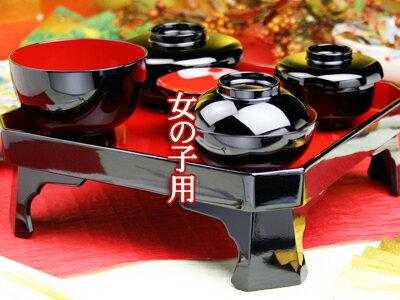 お食い初め膳食器・鯛の皿小セット レンタル【木曽の漆器よし彦】