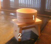 木曽ひのき風呂椅子・丸桶2点セット 【木曽の漆器よし彦】