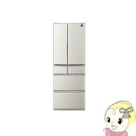 [予約]【設置込】SJ-F462E-S シャープ 6ドア冷蔵庫455L メガフリーザー シルバー系【smtb-k】【ky】【KK9N0D18P】
