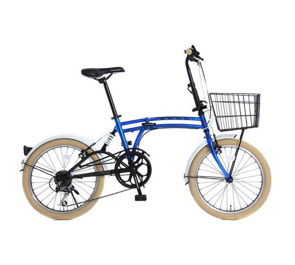 「メーカー直送」M6BL ドッペルギャンガー 20インチ折りたたみ自転車 m6 ブルー【smtb-k】【ky】