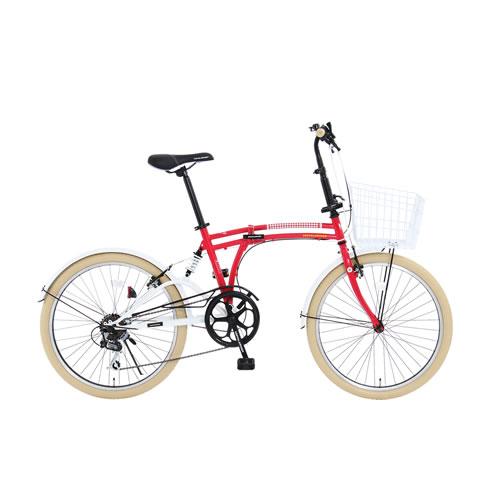 「メーカー直送」M6-24-RD ドッペルギャンガー 折りたたみ自転車 24インチ ポッピーレッド【smtb-k】【ky】