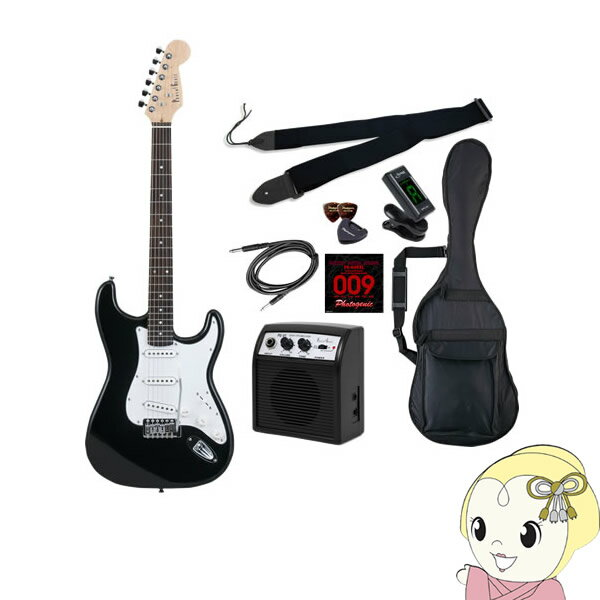【メーカー直送】 エレキギター 初心者セット フォトジェニック ST-180 入門セット ブラック【smtb-k】【ky】