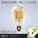 【あす楽】【在庫限り】LDF30A ビートソニック フィラメントLED電球Siphon(サイフォン)「エジソン」 400lm E26