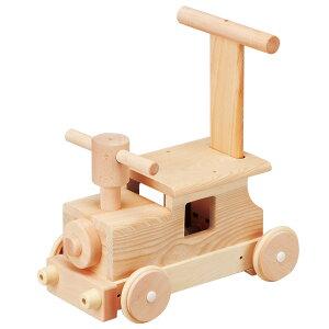 ◎MOCCO モッコ 森の汽車ポッポ W-027[押し車 手押し車 赤ちゃん おもちゃ 男の子 女の子 木製 乗用玩具 足けり 手押し 車 おしゃれ]