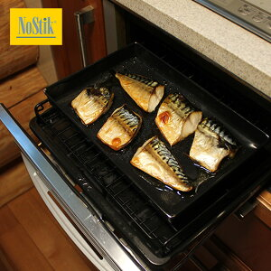 ◎NoStik ノースティック 魚焼きグリルトレイ 1.5リットル NOSOT1500[角型のテフロンシートのトレイ 便利なキッチン用品 グリルで繰り返し使える便利グッズ 食洗機も使えるグリル用トレイ]