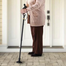 ◎ユーシン 背筋が伸びる杖[杖 折りたたみ シンプル おしゃれ 軽量 女性 折りたたみ杖 ステッキ 歩行 散歩 介護 杖先ゴム 安定] 即納