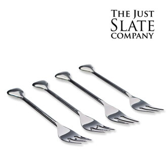 ◎THE JUST SLATE COMPANY fork four set JS-12 [stylish fork recommended to a  wedding present and a family celebration gift stylish at the age of