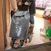 GIMIショッピングカートツインGIMTW[大きなエコバッグ買い物にふた付きの軽量な4輪キャリーカート(バッグ)4輪キャスターの大きなショッピングバッグ]