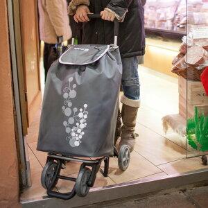 ◎GIMI ジミ ショッピングカート ツイン 56L GIMTW[ショッピングカート 軽量 4輪 おしゃれ 大きなエコバッグ ふた付き ショッピングバッグ キャスター付き ショッピングキャリー スーパー 買い
