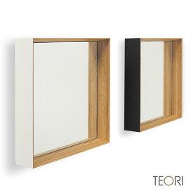 ◎TEORI ZERO KAKU テオリ ゼロ カク[竹の集成材を使った木枠のおしゃれな角型ウォールミラー(壁掛けミラー) 洗面所・脱衣所やリビングや玄関の壁掛けタイプの鏡として丁度良いサイズ]
