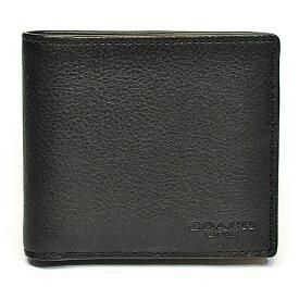 コーチ COACH 財布 折財布 メンズ F75084 BLK カーフ レザー ダブルビル ウォレット ブラック