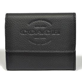 コーチ COACH 財布 小銭入れ F24652 BLK ロゴ モチーフ レザー コインケース ブラック